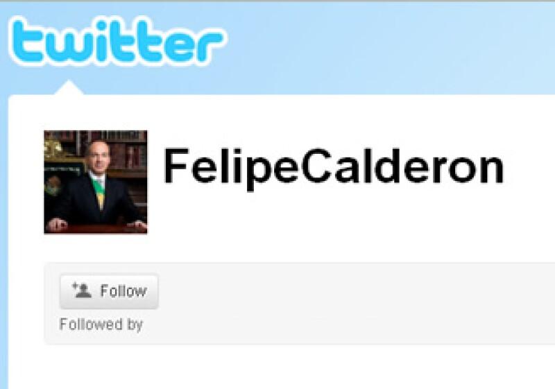 El presidente se unió a Twitter el 16 de mayo.  (Foto: Tomada de la cuenta oficial de Felipe Calderón)