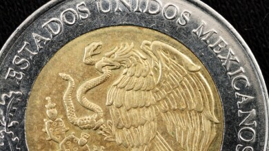 Super Macro Of Mexican Peso Coin