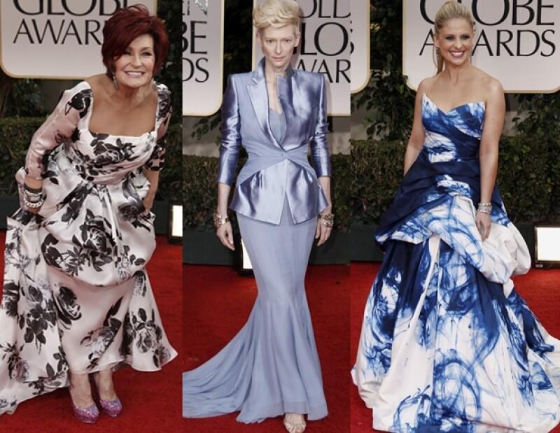 Sharon Osbourne, Tilda Swinton y Sarah Michele Gellar.