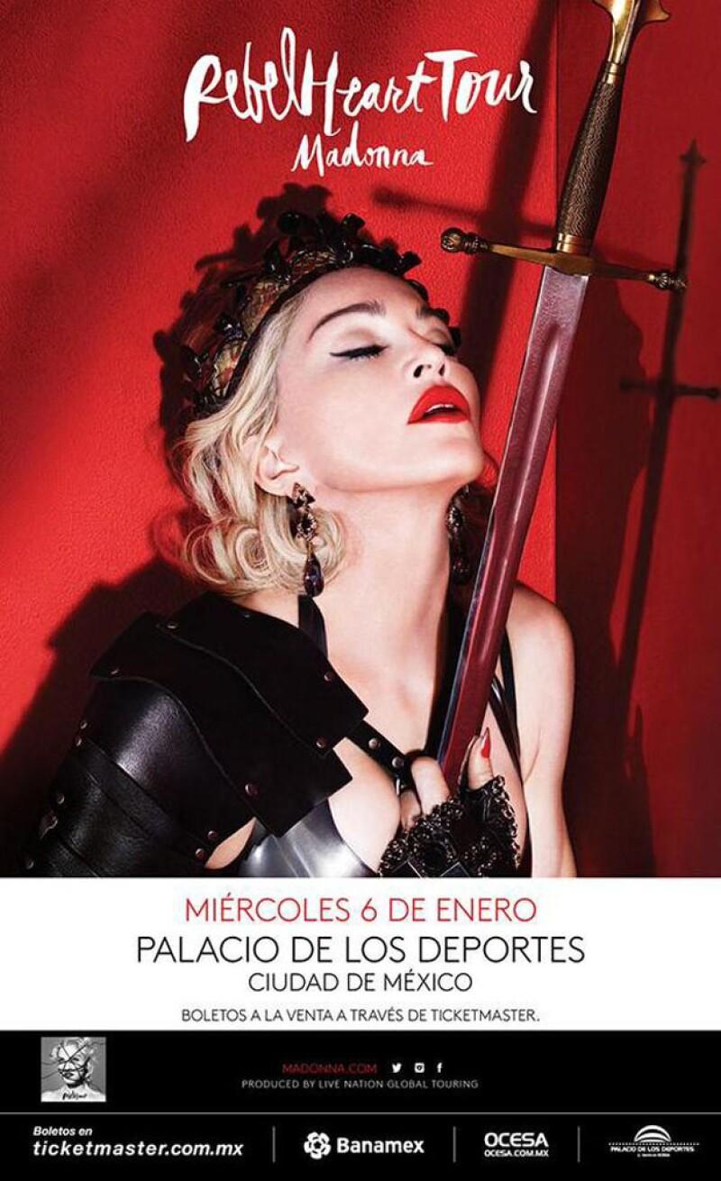 ¡Fans de la reina del pop! Hoy se da a conocer el poster del show y las fechas de venta de las entradas para la artista y su visita a la capital mexicana el próximo 6 de enero.