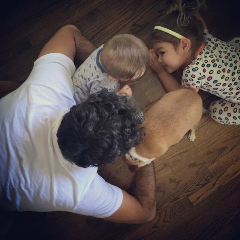 Jaime Camil aprovecha cada especoa en su agenda para disfrutar y ver crecer a sus hijos.