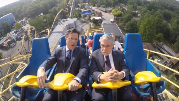 Stephen Colbert y Paul Krugman