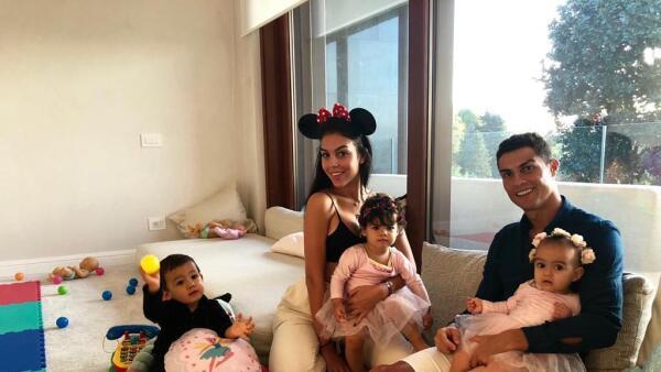 Así celebró Halloween Cristiano Ronaldo con su familia