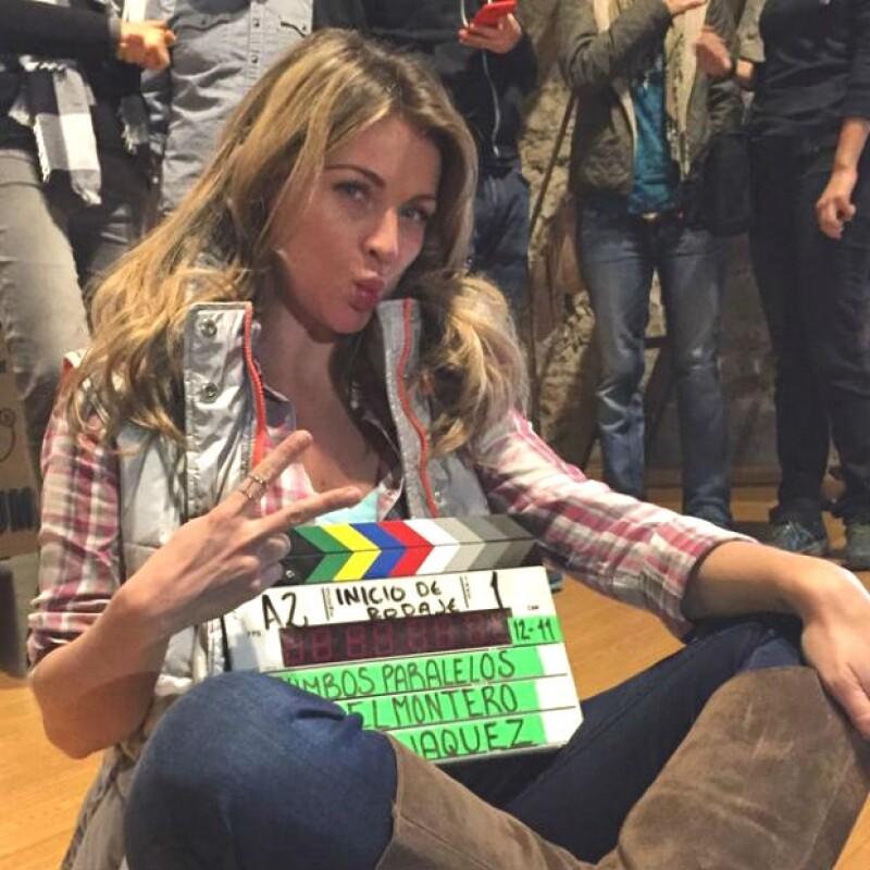 Durante el rodaje de su nueva película, la actriz aprovechó para expresar su sentir sobre la unión de los mexicanos para manifestarse sobre la situación que vive México.