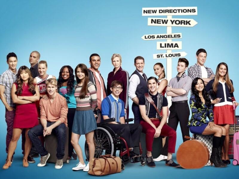 El elenco de Glee.