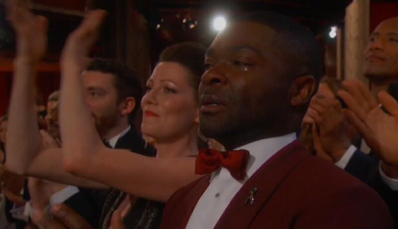 Fuerte, pero a la vez tierna y conmovedora. Así fue la canción Glory, que interpretaron John Legend y Common, que varios actores no pudieron evitar soltar unas lágrimas.