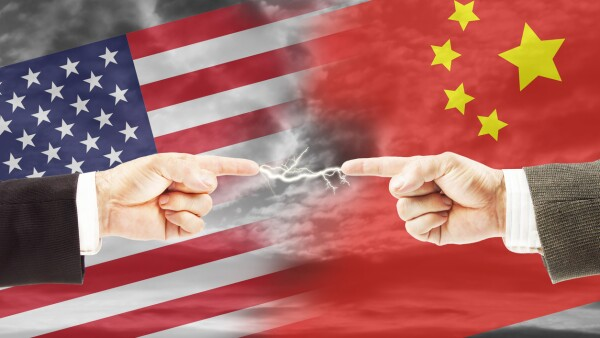 Tense relations between United States and China