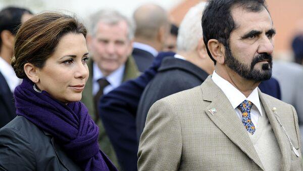princesa Haya de Jordania y Mohamed bin