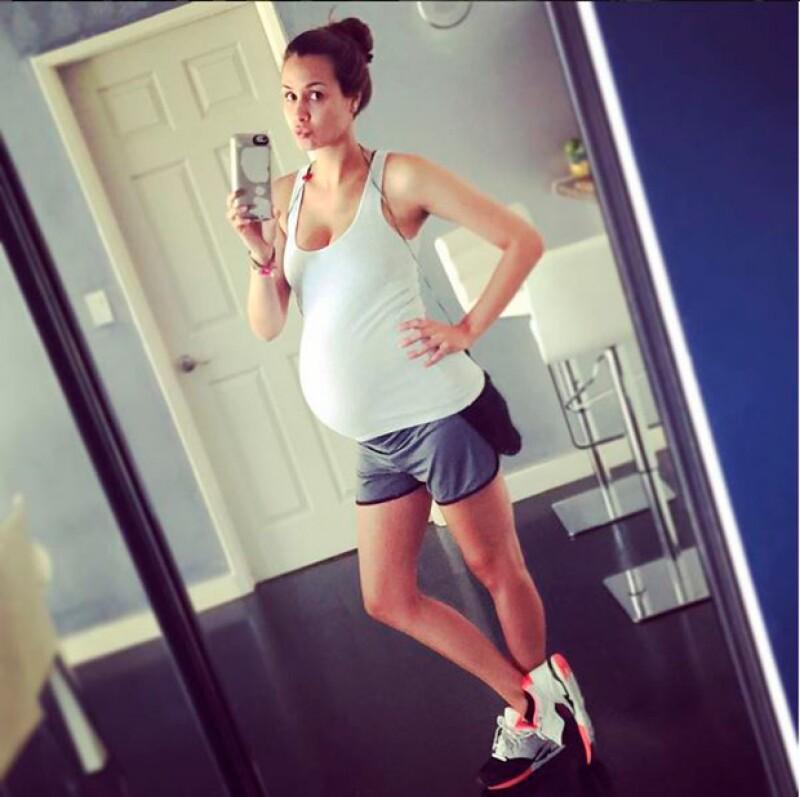 Odalys ha hecho ejercicio durante todo el embarazo.