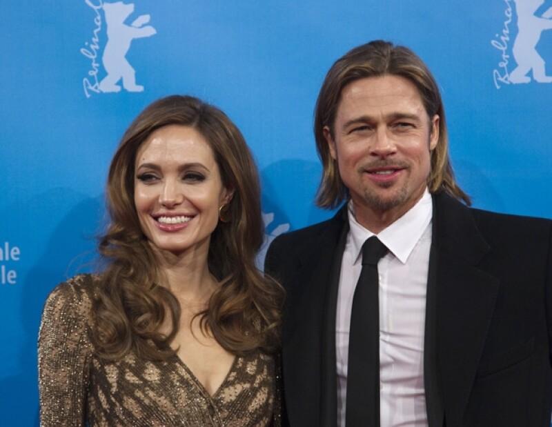 La actriz y ahora productora de cine presentó su nuevo filme en el Festival de Cine de Berlín en compañía de su esposo Brad Pitt.