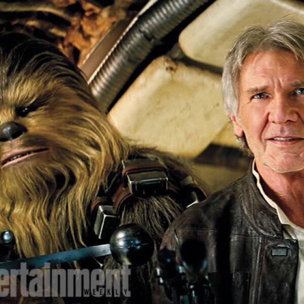 Así se verán Chewbacca y Harrison Ford.