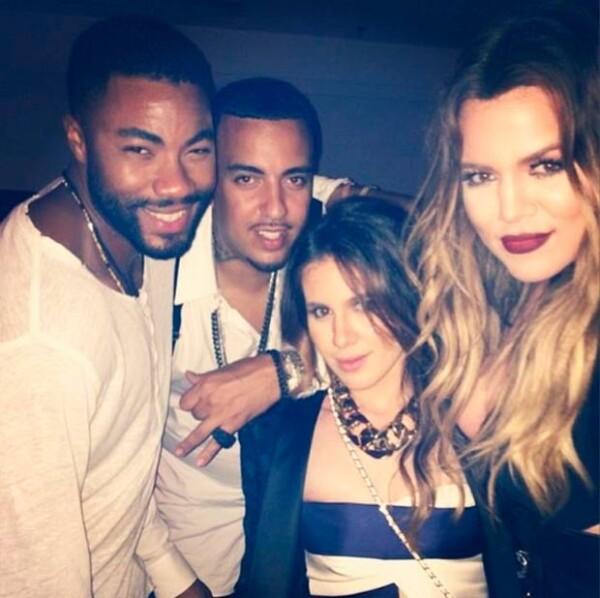 Khloé Kardashian acudió al concierto acompañada por Montana y otros amigos.