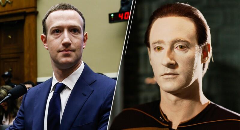 Usuarios de Twitter comparan a Marck Zuckerberg con Data, el robot de Star Trek
