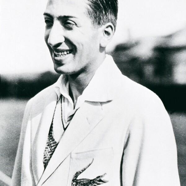 René Lacoste (1927) en Long Island, Nueva York, después de una