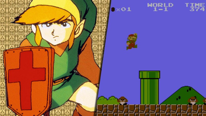 The Legend of Zelda y Super Mario Bros