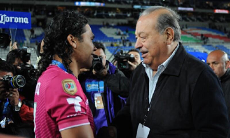 Slim asistió a la final entre León y Pachuca (Foto: Cuartoscuro)