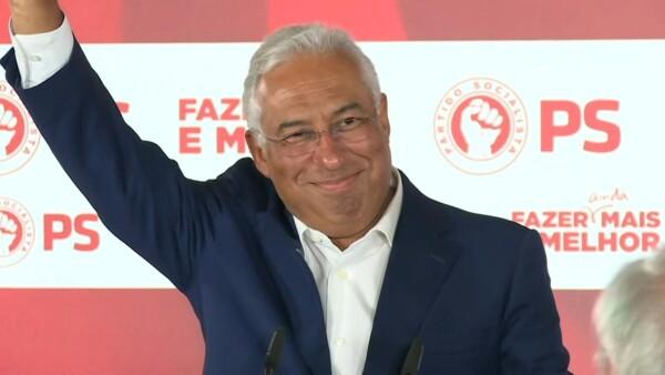 Primer ministro socialista António Costa es reelegido en Portugal