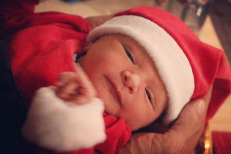 Su bebé llegó como un verdadero regalo de Navidad.