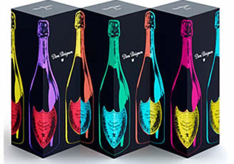 La botella fue diseñada con tres diferentes colores: rojo, azul y amarillo. (Foto: Cortesía Dom Pérignon)