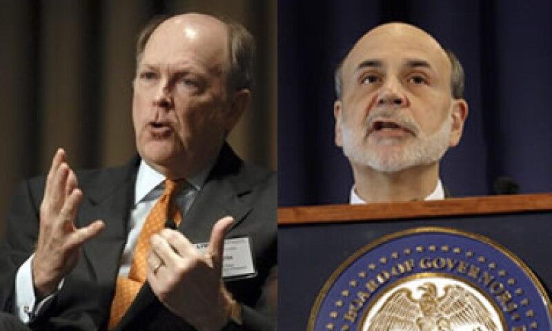 Charles Plosser defiende que el control de la inflación debe ser la guía de la Fed, no los estímulos como propone Bernanke. (Foto: Especial)