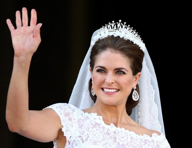 Magdalena usó su tiara favorita.