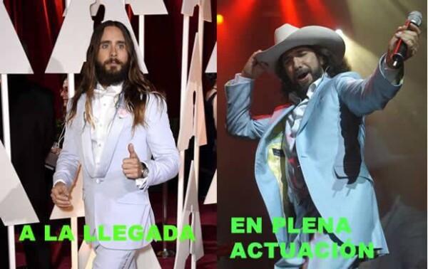 """Una más para Jared Leto, esta vez comparado con Marco Antonio Solís """"El Buki""""."""