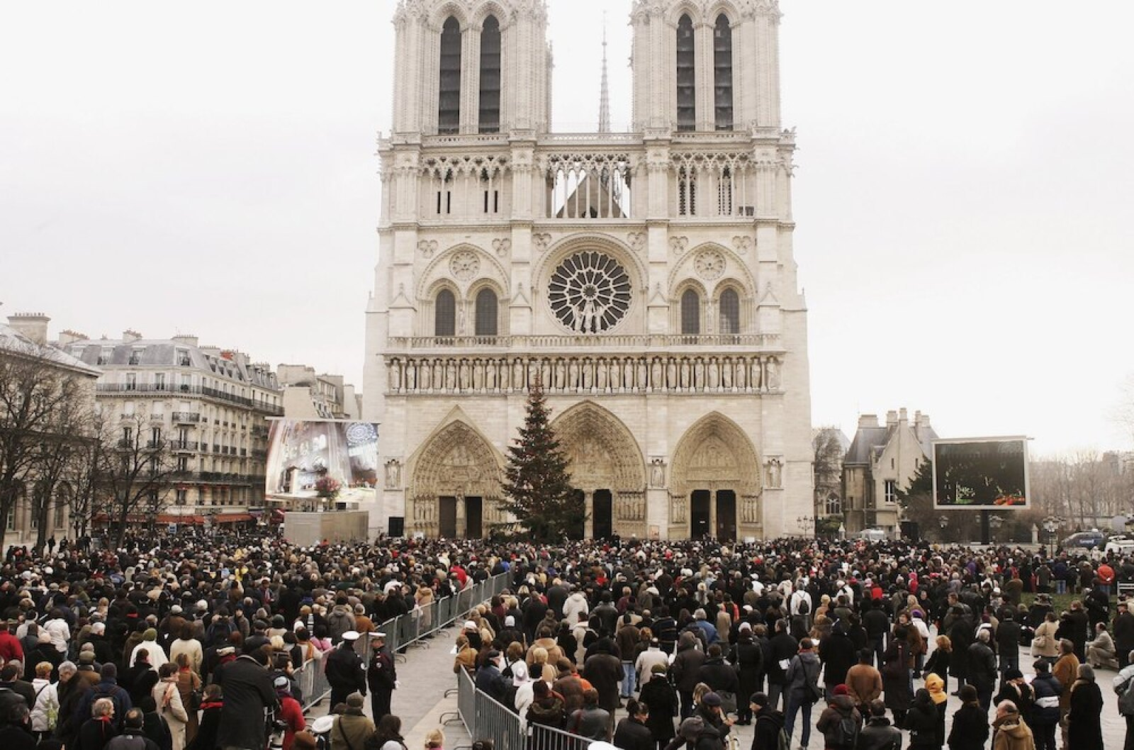 Abbe Pierre Funeral In Paris's Notre Dame Cathedral