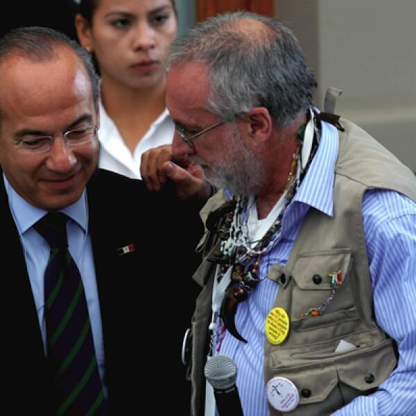 Javier Sicilia, poeta mexicano, encabezó 'La Marcha por la Paz', luego que su hijo falleciera a manos de presuntos criminales, en Cuernavaca, México.