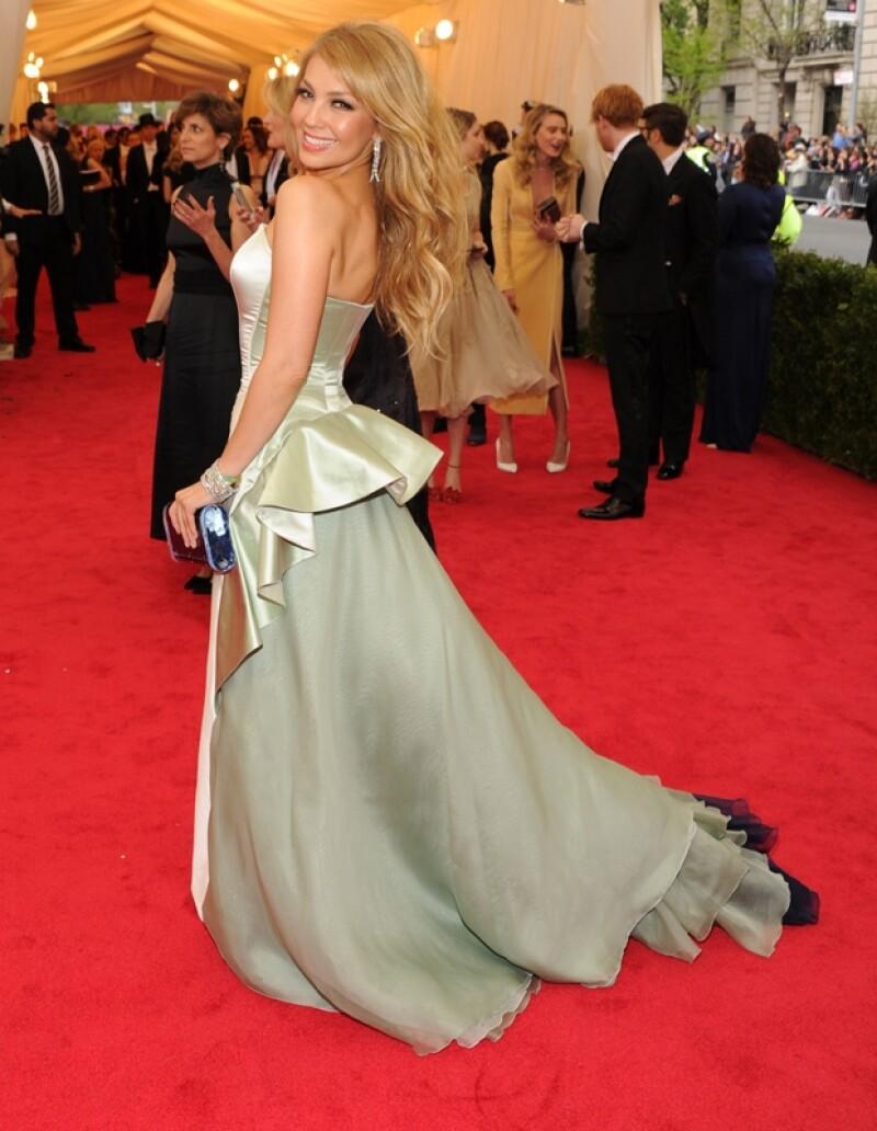 La cantante fue una de las personalidades que más compartieron la noche especial en Nueva York a través de sus redes sociales.