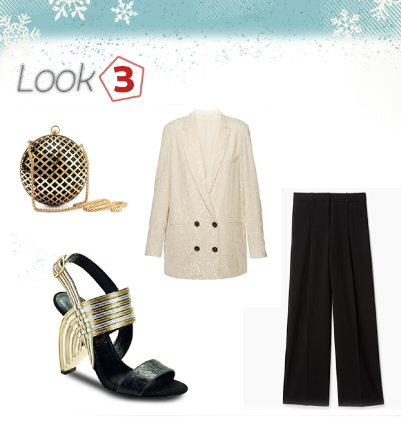 Bolsa: H&M / Blazer: Brunello Cucinelli / Zapatos: Ferragamo / Pantalón: Theory