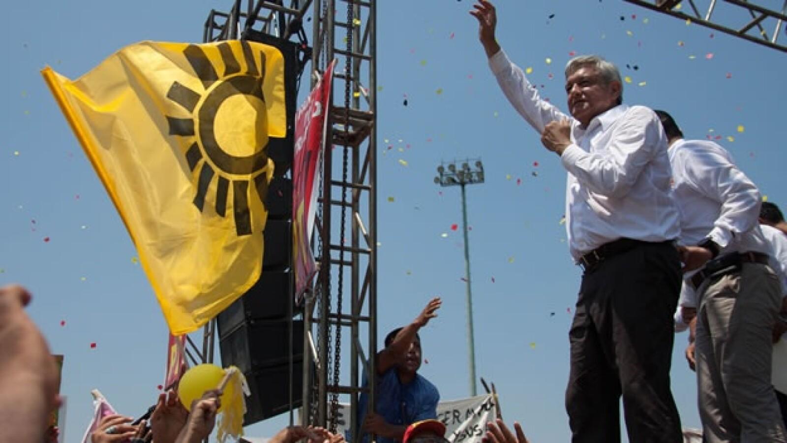 López Obrador inicia su campaña en Macuspana, Tabasco