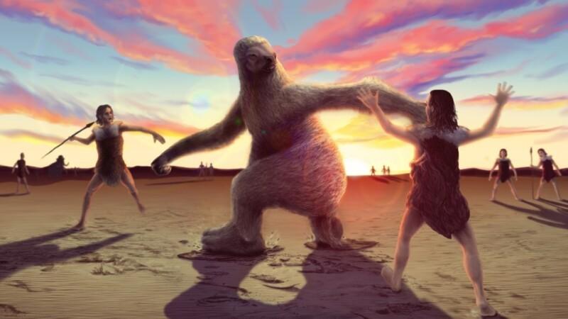 Humanos de hace 11,000 años cazaban perezosos de 2.5 metros