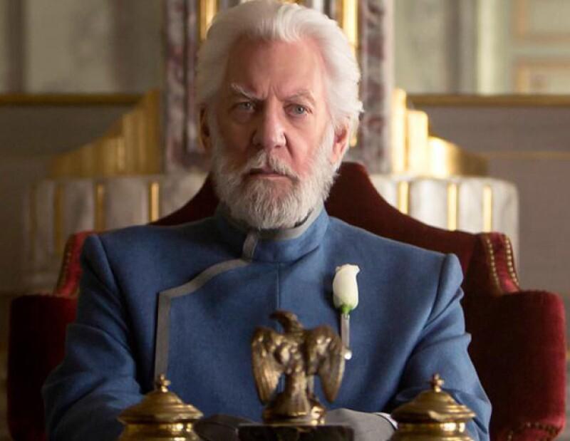 Donald Sutherland en The Hunger Games.