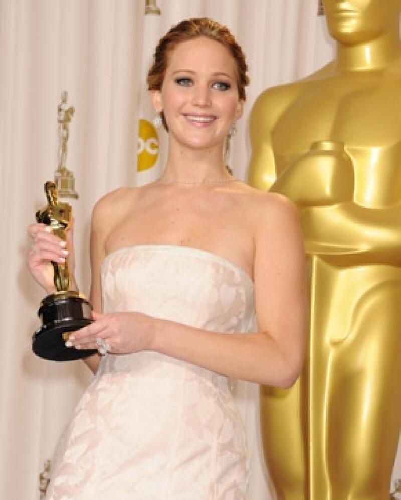 La joven de 23 años ganó este año el premio Oscar.