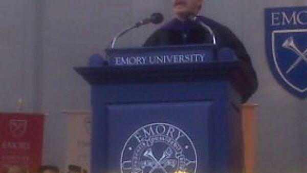 El ex presidente de México fue galardonado por parte de la Universidad Emory de Atlanta gracias a su liderazgo internacional en temas de democracia.