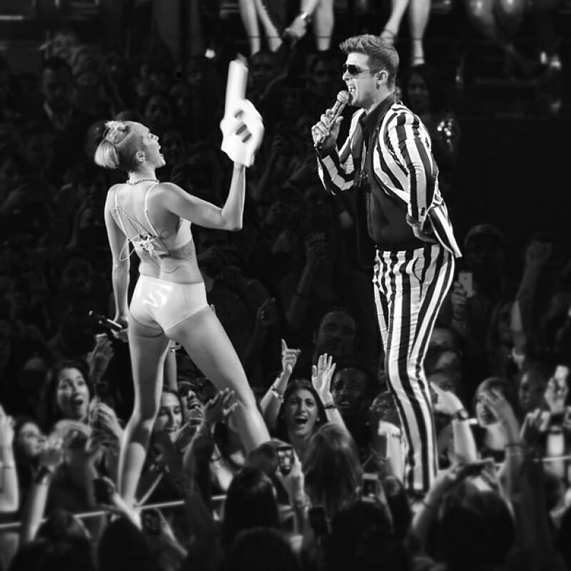 Fue en la edición del año pasado cuando Miley destapó su irreverente actitud.