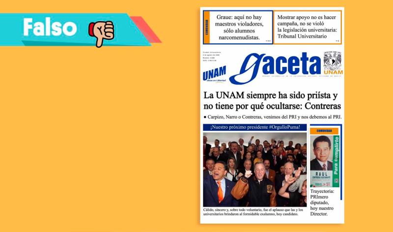 Falsa Gaceta de la UNAM