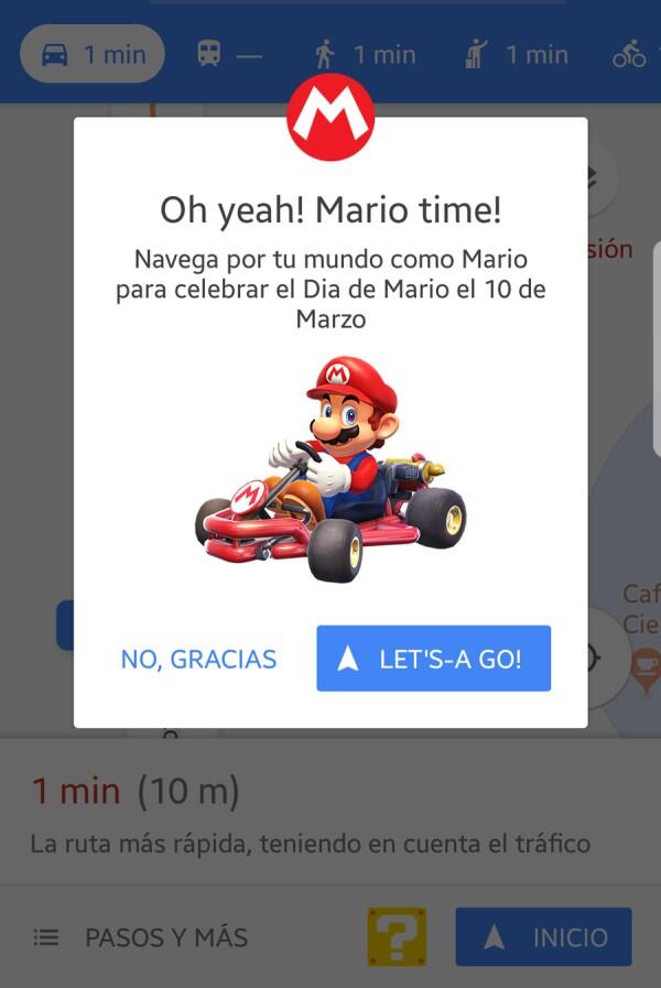 Mario Bros en Google Maps