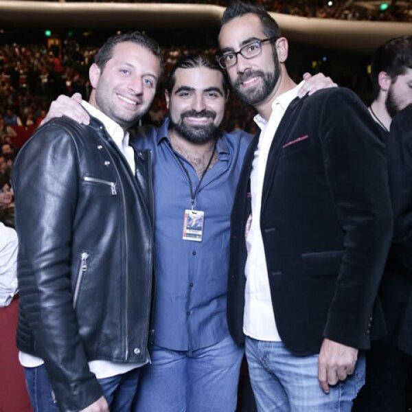Moisés Zapan, Sergio Gabriel y Alberto Dichi.