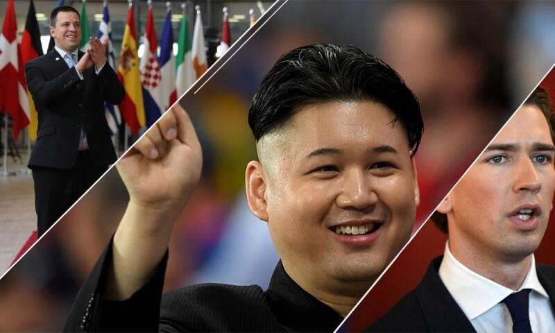 Jüri Rata, Kim Jong-un y Sebastian Kurz