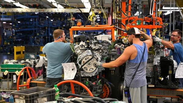 Sector manufacturero en recesión