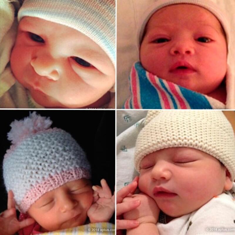 El actor hizo público el nombre de su primera hija con Mila Kunis a través de su página web personal y compartió varias imágenes de bebés asegurando que entre ellos está la suya.
