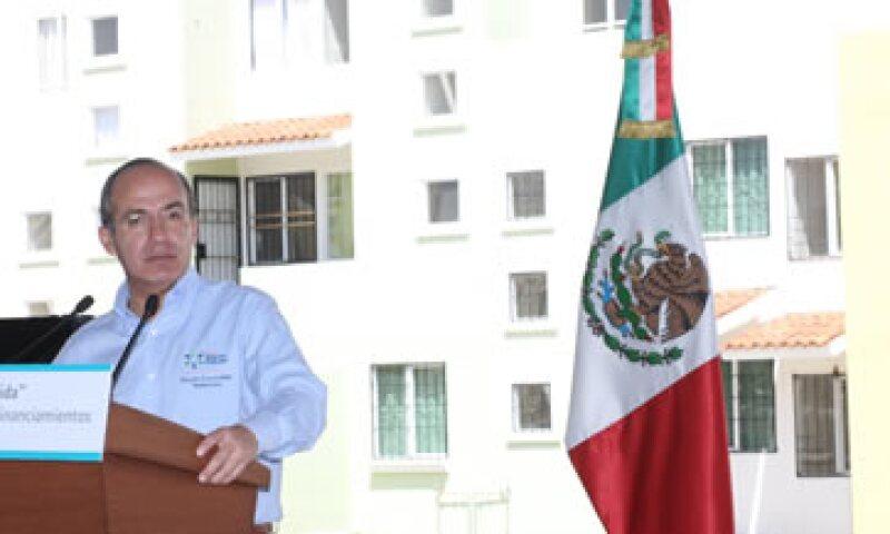 El presidente Felipe Calderón destacó que en este sexenio uno de cada cuatro mexicanos ha recibido beneficios para su vivienda. (Foto: Notimex)