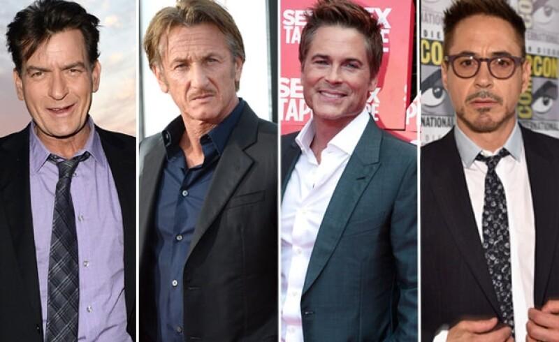 Charlie Sheen, Sean Penn, Rob Lowe, Robert Downey Jr.