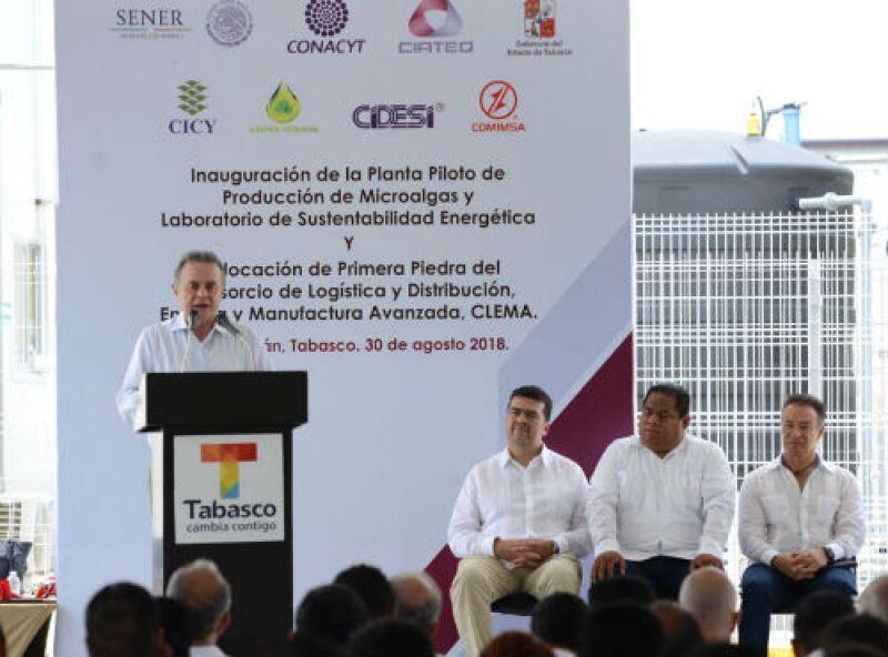 Inauguraci�n de la Planta Piloto de Producci�n de Microalgas y Laboratorio de Sustentabilidad Energ�tica