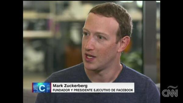 Mark Zuckerberg habla con CNN de injerencia en elecciones y noticias falsas