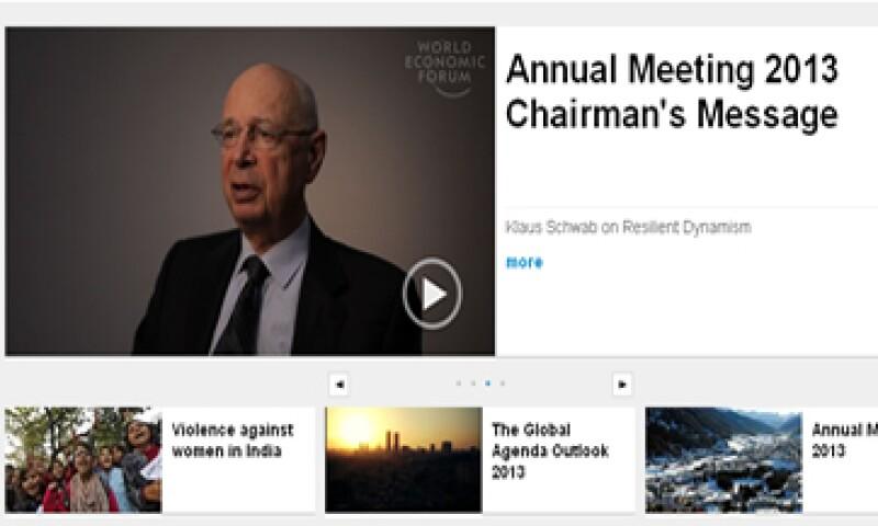 El sitio del WEF transmitirá en vivo las entrevistas a los CEO que participan en el Foro Económico. (Foto: tomada de weforum.org)
