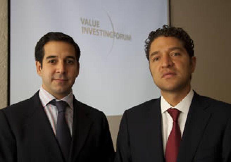 Francisco Carrillo (izq.) y Alejandro Legorreta (der.) han impulsado el Value Investing Forum durante 2 años. (Foto: Cortesía)