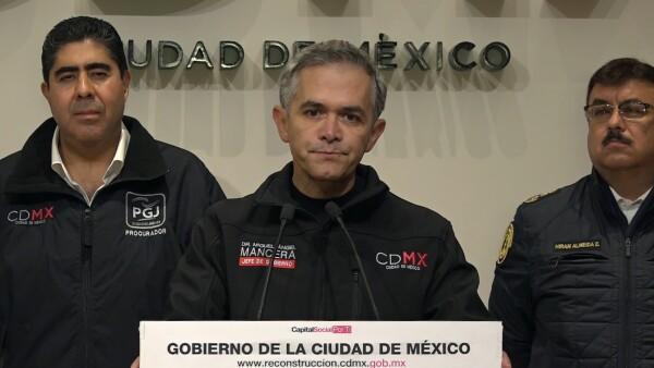 Miguel Ángel Mancera reportó la localización del Marco Antonio Sánchez