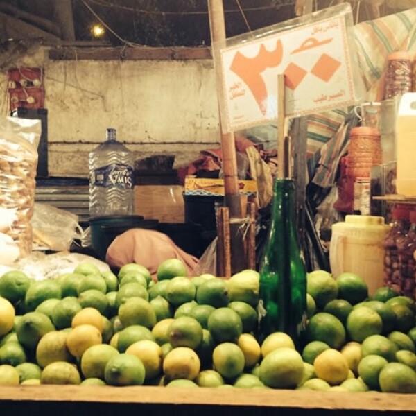 El kilo de limones en la ciudad de Alejandría cuesta solo 3 libras egipcias, equivalentes a unos 5.67 pesos mexicanos